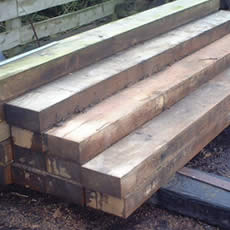 New Untreated Hardwood Green Oak Sleepers